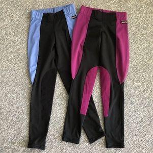 Lot 2 Kerrits horseback riding pants leggings  XS